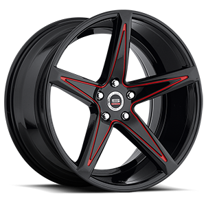 SPM-78R Gloss Black Red Accent 5 lug