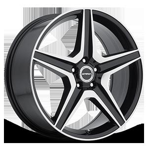 Strada Wheels Cinque 5 Gloss Black Machined