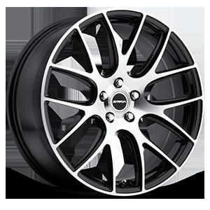 Strada Wheels Fuso 5 Black Machined