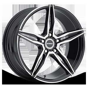 Strada Wheels Malato 5 Black Machined