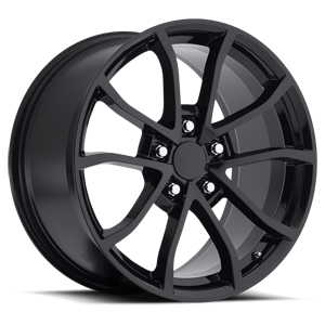 Style 25 Gloss Black 5 lug