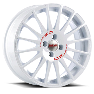 Superturismo WRC Race White Red Lettering 4 lug