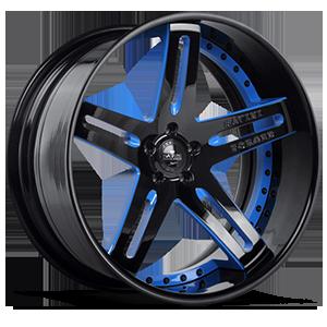SV1-C Black with Blue Trim 5 lug
