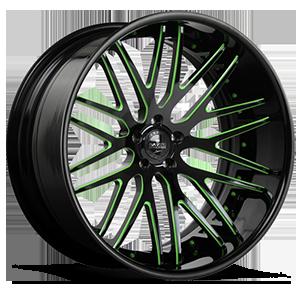 SV25-C Black and Green 5 lug
