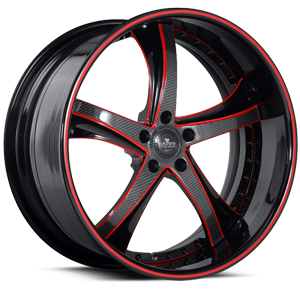 SV29-S Black and Red with Carbon 5 lug