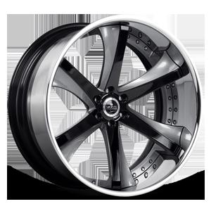 SV30-C Gray and Black with Chrome Lip 6 lug