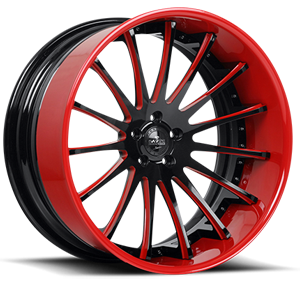 SV34-C Black and Red 5 lug