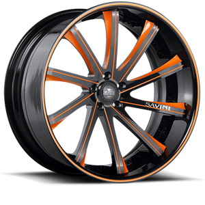 SV37-C Black and Orange 5 lug