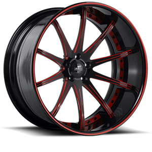 SV41-C Black and Red 5 lug