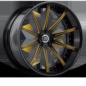 SV41-C Black and Yellow 5 lug