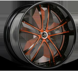 SV43-S Brushed Anthracite Orange and Black 5 lug