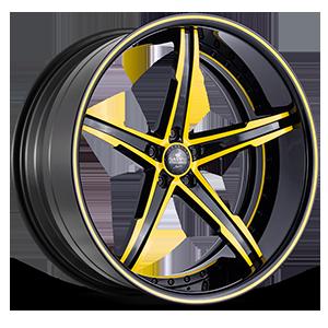 SV59-C Black and Yellow 5 lug