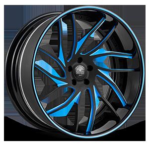 SV62-C Black and Blue 5 lug