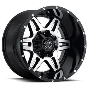 538 Gloss Black with Mirror Machined Face 5 lug
