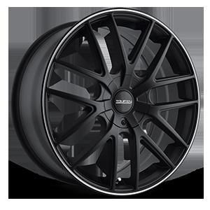 TR60 Black w/ Machined Lip 4 lug