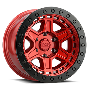 Reno Beadlock Candy Red w/ Black Ring 6 lug