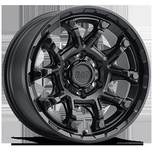 Ark Matte Black with Gloss Black Bolts 6 lug