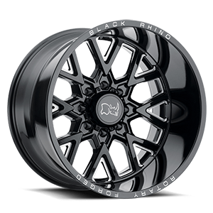 Grimlock Gloss Black w/ Milled Spokes 8 lug