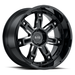 Locker 6 Gloss Black with Milled Spoke