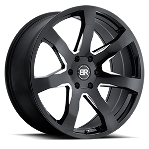 Mozambique Gloss Black with Milled Spoke 6 lug