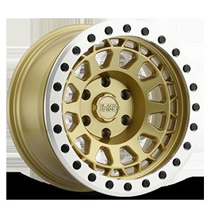 Primm Beadlock Matte Gold w/ Machined Ring 6 lug