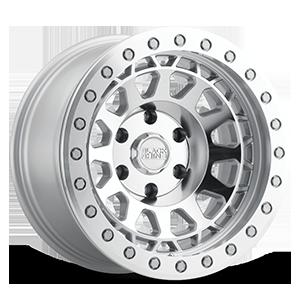 Primm Beadlock Silver w/ Mirror Face & Machined Ring 6 lug