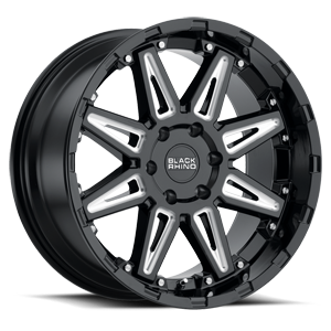 Rush 6 Gloss Black with Milled Spoke