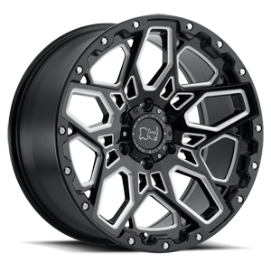 Shrapnel 6 Gloss Black with Milled Spoke