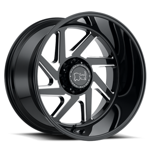 Swerve 8 Gloss Black w/ Double Milled Spokes