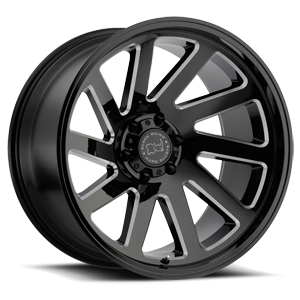 Thrust Gloss Black w/ Milled Spokes 6 lug