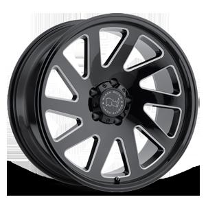 Thrust Gloss Black w/ Milled Spokes - 20x9.5 5 lug