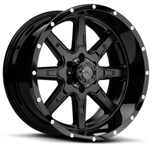 T-15 Satin Black w/ Gloss Black Lip 6 lug