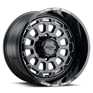 111 Xtreme Gloss Black with Milled Accents, Milled Letters and Clear-Coat 8 lug