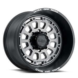 111 Xtreme Satin Graphite with Satin Black Lip, Milled Letters and Satin Clear Coat - 20x12 8 lug