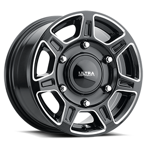 450 Super Single Gloss Black Milled 6 lug