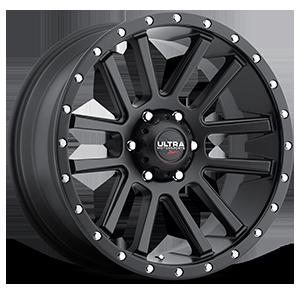107 Xtreme Satin Black with Satin Black X-Lok Lip 6 lug