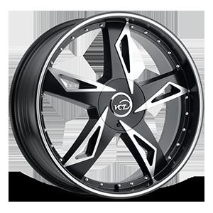 V84 Black Machined 5 lug