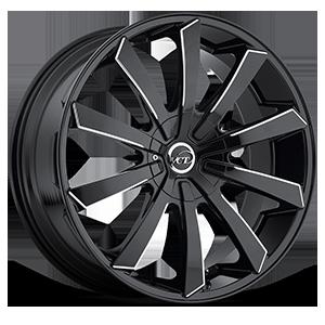 V48 Black Milled 5 lug