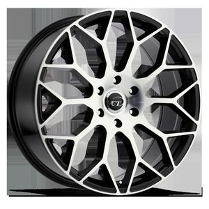 V82 Black Machined Face 6 lug