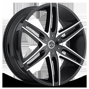 V8 Black Machined 5 lug