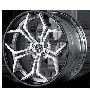 VCX concave Silver with Carbon Lip 6 lug