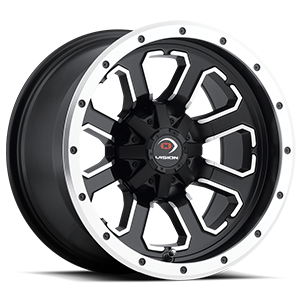 548 Commander Matte Black with Machined Face 4 lug