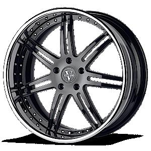 VKi Black with Chrome Lip 5 lug