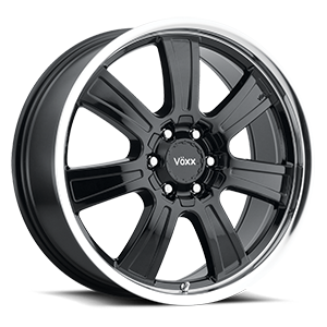 Vöxx Road Wheel Turin 6 Gloss Black Machined Lip
