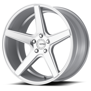 KMC Wheels KM685 District 5 Silver with Machined Face