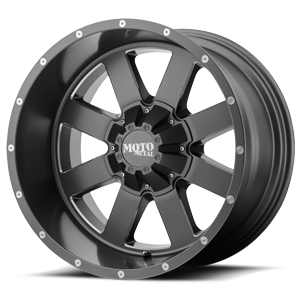 MO962 Satin Grey w/ Milled Accents 5 lug