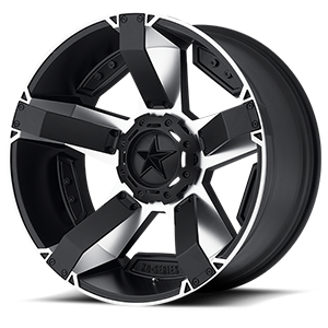 XD811 RS2 Matte Black Machined w/ Accents 8 lug