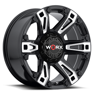 WORX Wheels 803 Beast Truck 6 Gloss Black with Milled Accents