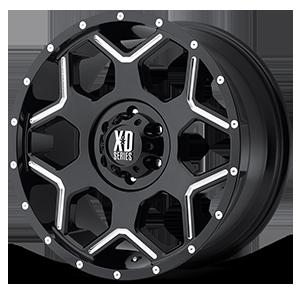 XD812 Crux Gloss Black Milled 6 lug
