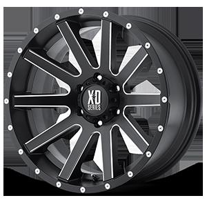 XD818 Heist Satin Black Milled 6 lug